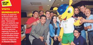 Fuleco la mascota oficial del mundial Brasil2014 en Guatemala